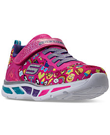 Skechers Little Girls' S Lights: Litebeams - Feelin It Light-Up Athletic Sneakers from Finish Line