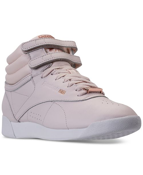 ace951bbfa1e8 ... Reebok Women s Freestyle Hi Top Muted Casual Sneakers from Finish ...