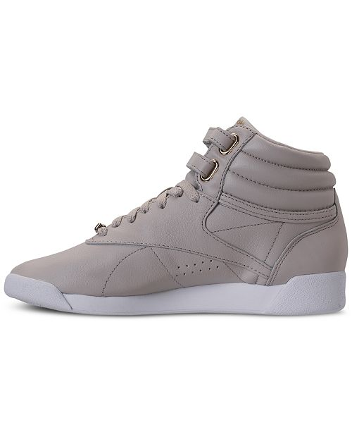 dc5a98ea7c0 ... Reebok Women s Freestyle Hi Top Muted Casual Sneakers from Finish ...