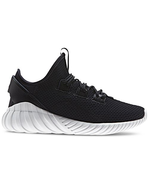 new product b2012 bfed4 ... adidas Big Boys  Tubular Doom Sock Primeknit Casual Sneakers from  Finish ...