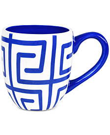 Coton Colors Indigo Fret Mug