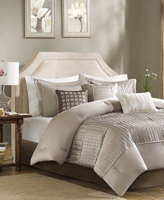 Trinity Charmeuse 7-Pc. King Comforter Set