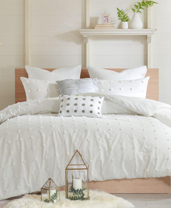 Urban Habitat Brooklyn Cotton 7-Pc. Full/Queen Comforter Set, Ivory/Cream, Size: Full/Queen
