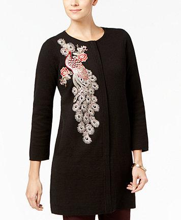Alfani Embellished Sweater Coat, Created for Macy's - Sweaters ...