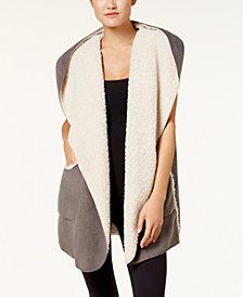 HUE® Sleeveless Fleece-Lined Hooded Robe