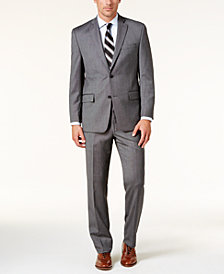 Michael Kors Men's Classic-Fit Silver/Gray Birdseye Suit