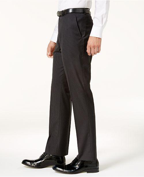 Nick Graham Men's Slim-Fit Stretch Black Grid Suit & Reviews - Suits & Tuxedos - Men - Macy's