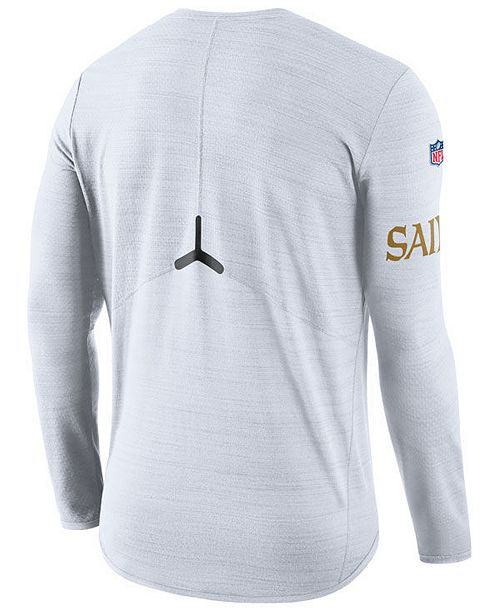 e55b8a58eb Nike Men's New Orleans Saints Color Rush Player Top Long Sleeve T-Shirt ...