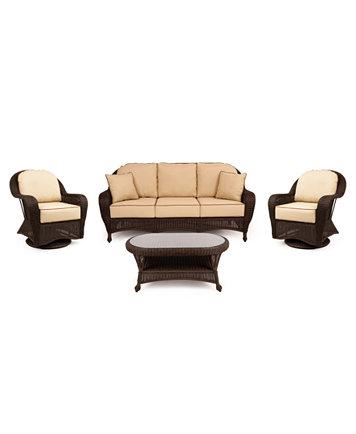 Fantastic Monterey Outdoor Wicker 4 Pc Seating Set 1 Sofa 2 Swivel Gliders And 1 Coffee Table Created For Macys Inzonedesignstudio Interior Chair Design Inzonedesignstudiocom