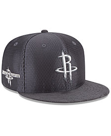 New Era Houston Rockets On-Court Graphite Collection 9FIFTY Snapback Cap