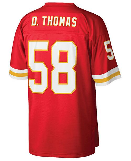 Wholesale Mitchell & Ness Men's Derrick Thomas Kansas City Chiefs Replica  supplier