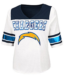 Touch By Alyssa Milano Women's Los Angeles Chargers Touchdown T-Shirt