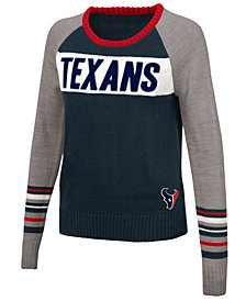 Touch By Alyssa Milano Women's Houston Texans Team Spirit Sweater