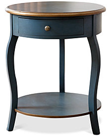 Harrigton Round End Table, Quick Ship