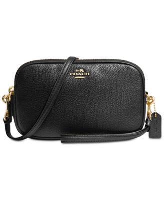 coach crossbody clutch in pebble leather handbags accessories rh macys com