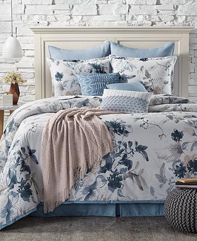 CLOSEOUT! Kelly Ripa Home Indigo Mood Reversible 10-Pc. Queen Comforter Set