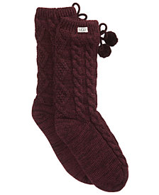 UGG Pom Pom Fleece Slipper Socks
