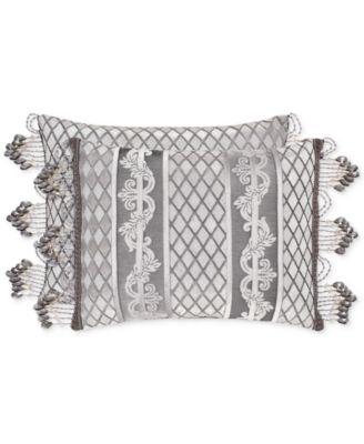 "Bel Air Silver 15"" x 21"" Boudoir Decorative Pillow"
