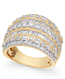 Diamond Multi-Row Ring (2 ct. t.w.) in 14k Gold