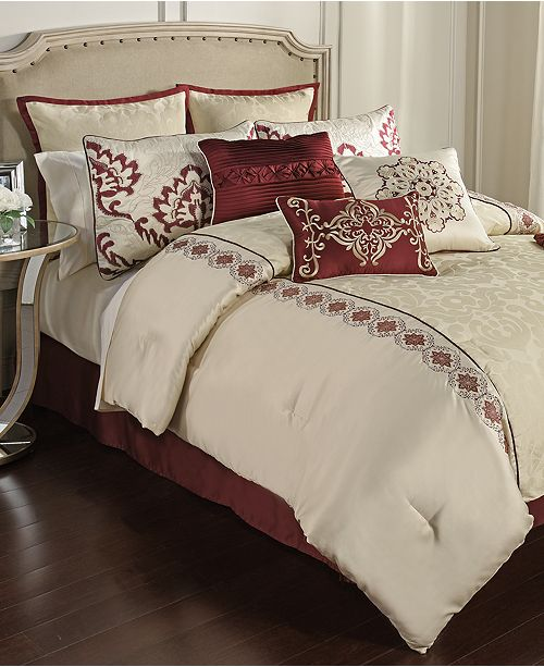 Hallmart Collectibles Conrad 14-Piece Queen Comforter Set