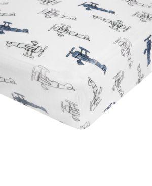 aden by aden + anais Cotton Sky High Printed Crib Sheet, Baby Boys (0-24 months) 5210223