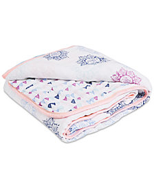 aden by aden + anais Baby Girls Cotton Pretty Printed Muslin Blanket