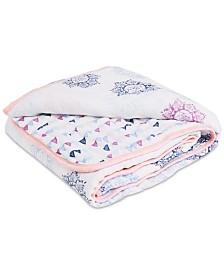 aden by aden + anais Baby Girls Cotton Pretty Printed Muslin Blanket