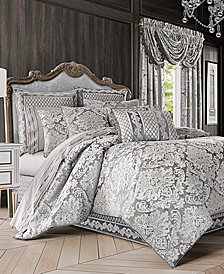 J Queen New York Bel Air 4-Pc. Silver California King Comforter Set