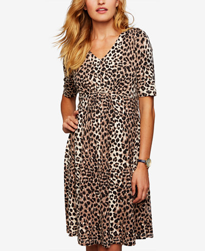 A Pea In The Pod Maternity Leopard-Print Dress