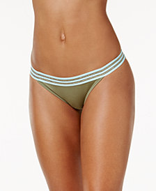 Vince Camuto Sea Band Cheeky Bikini Bottoms