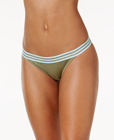 Vince Camuto Sea Band Cheeky Bikini Bottoms