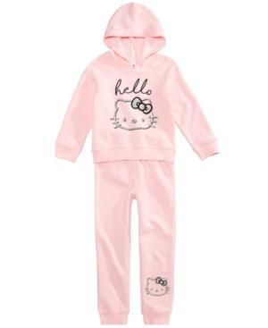 Hello Kitty GlitterPrint Hoodie  Jogger Pants Set Little Girls (46X)