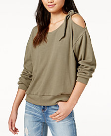 MINKPINK Eva Cold-Shoulder Sweatshirt