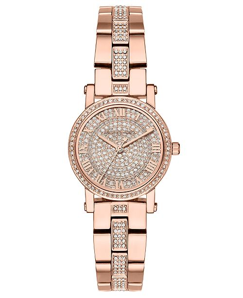 e313b0e6f4b4 ... Michael Kors Women s Petite Norie Rose Gold-Tone Stainless Steel  Bracelet Watch ...