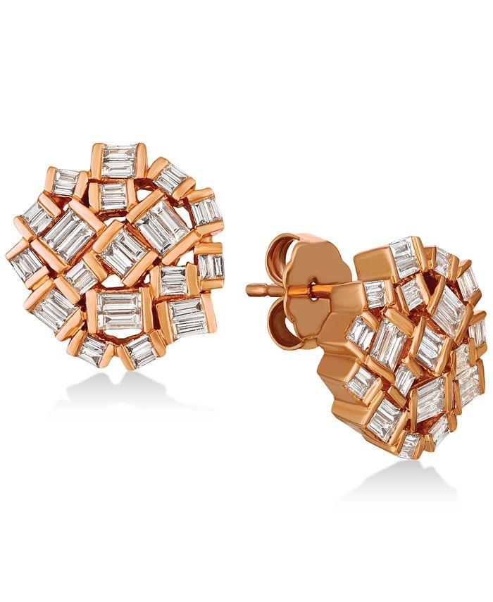 Le Vian - Diamond Cluster Earrings (5/8 ct. t.w.) in 14k Rose Gold