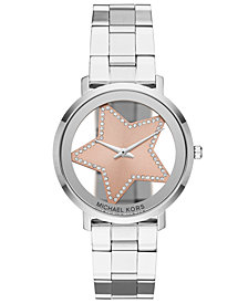 Michael Kors Women's Jaryn Stainless Steel Bracelet Watch 38mm, Created for Macy's