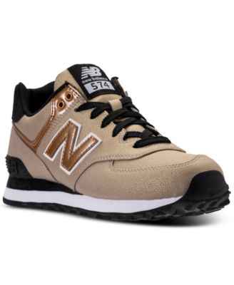 Image 1 of New Balance Women\u0027s 574 Seasonal Shimmer Casual Sneakers from  Finish Line