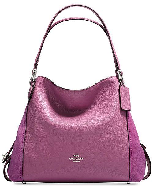 3173d8e34e COACH Edie Shoulder Bag 31   Reviews - Handbags   Accessories - Macy s