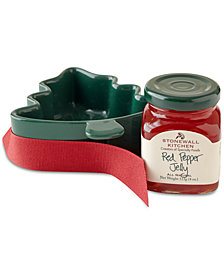 Stonewall Kitchen Red Pepper Jelly & Tree Ramekin Gift Set