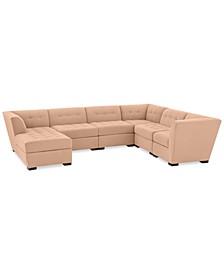 "Roxanne 136"" II Performance Fabric 6-Pc.  Modular Sofa with Chaise, Created for Macy's"