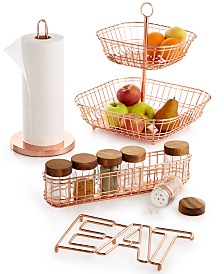 Martha Stewart Collection Copper Kitchen Organization, Created for Macy's