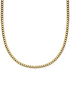 "18"" Curb Link Chain Necklace (3-1/6mm) in Solid 14k Gold"