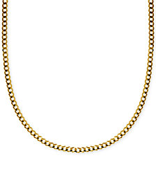 "24"" Curb Link Chain Necklace in Solid 14k Gold"