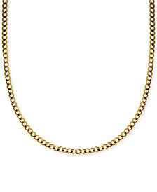 "22"" Curb Link Chain Necklace in Solid 14k Gold"