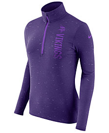 Nike Women's Minnesota Vikings Element Quarter-Zip Pullover