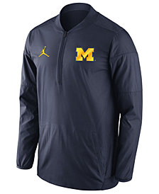 Nike Men's Michigan Wolverines Lockdown Quarter-Zip Pullover
