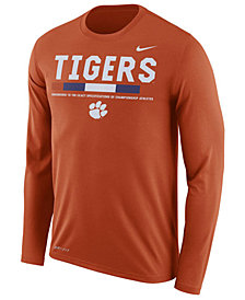 Nike Men's Clemson Tigers Legend Sideline Long Sleeve T-Shirt