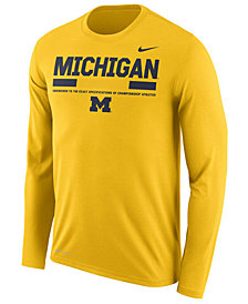 Nike Men's Michigan Wolverines Legend Sideline Long Sleeve T-Shirt