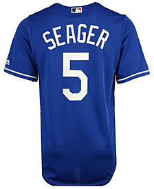 Majestic Men's Corey Seager Los Angeles Dodgers Player Replica Cool Base Jersey