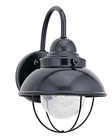 Sea Gull Outdoor Lighting, Sebring Black Wall Lantern 16""